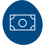 icon blue bill