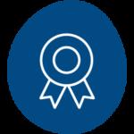 icon blue certificado